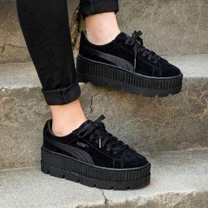 FENTY PUMA Black Cleated Creeper Sneaker